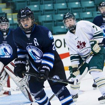 NWT female hockey players