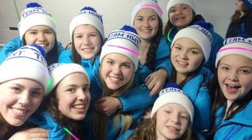 Team NWT athletes at opening ceremony