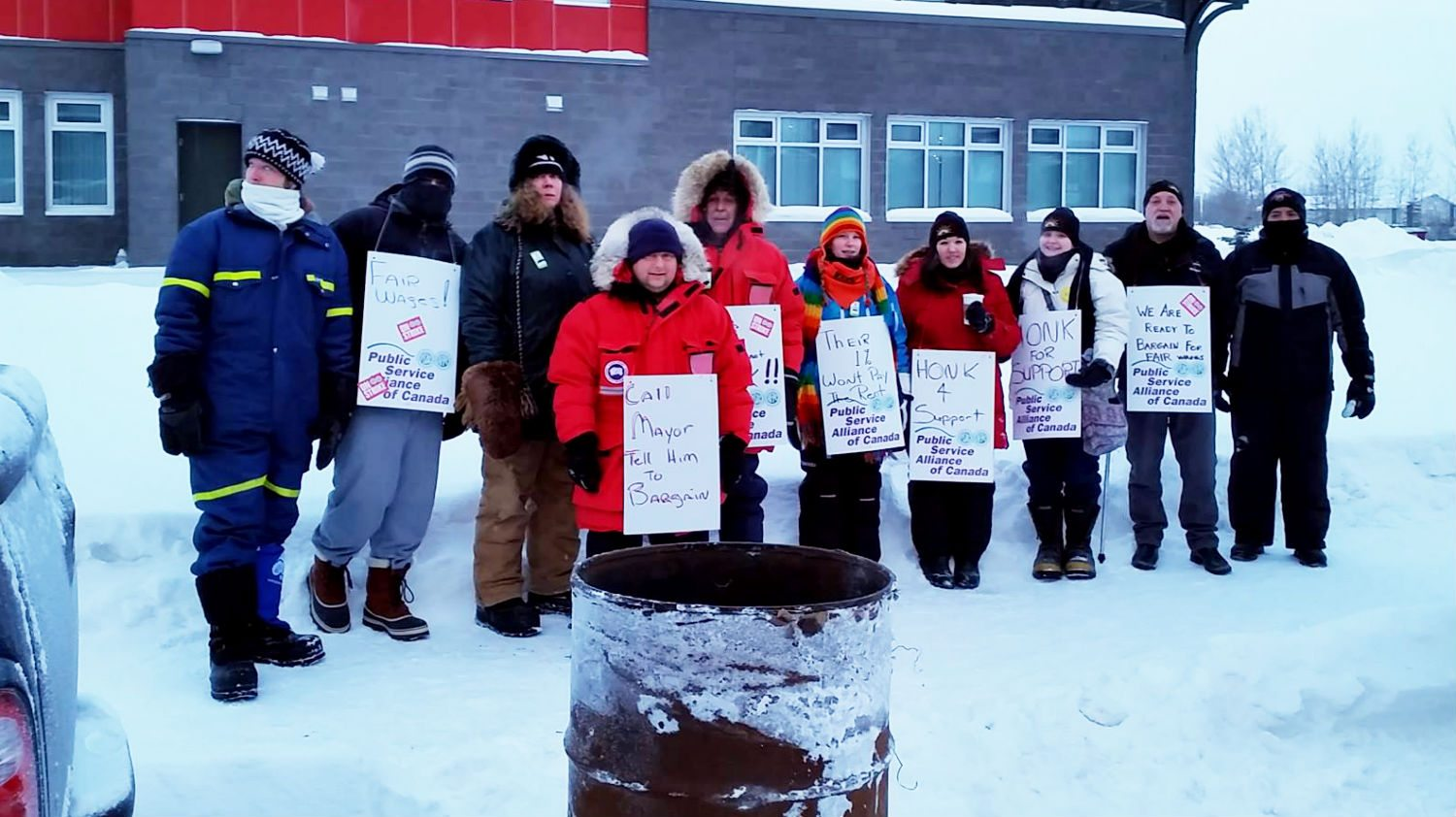 Town of Hay River workers on strike