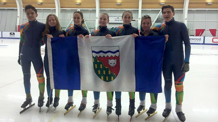 The NWT's short track speed skating team