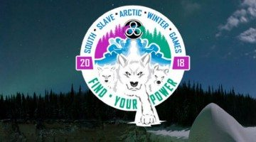 2018 Arctic Winter Games bid logo with background