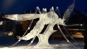 'Bzzzz' mosquito carving at 2015 Long John Jamboree