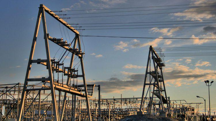 Northwest Territories Power Corporation (NTPC) substation near Yellowknife