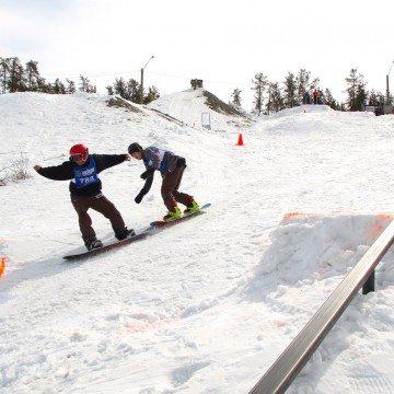 Snowboarding in Bristol Pit
