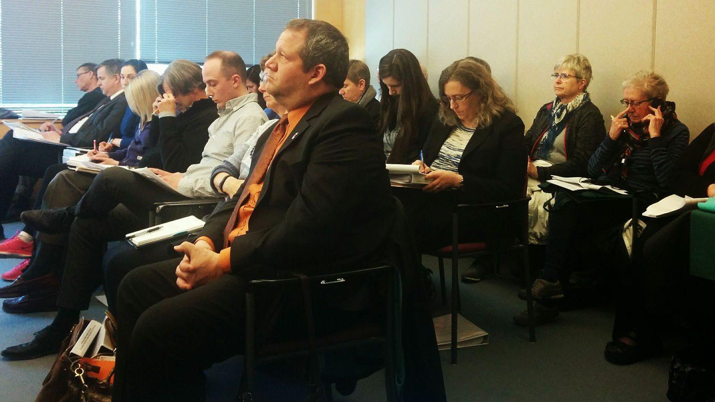 Glen Abernethy at public hearing
