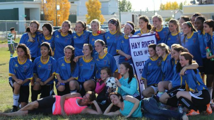 Sir John Franklin students at the Hay River soccer tournament