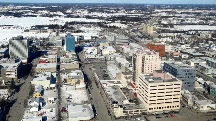 Aerial view of Yellowknife