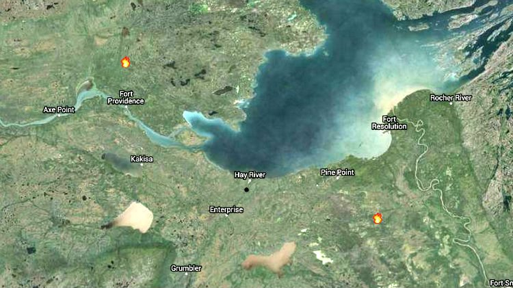NWT Fire map