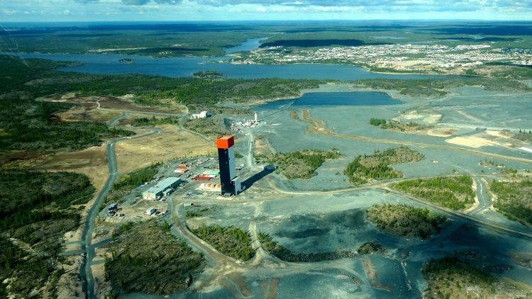 Con Mine's Robertson Headframe (aerial view)
