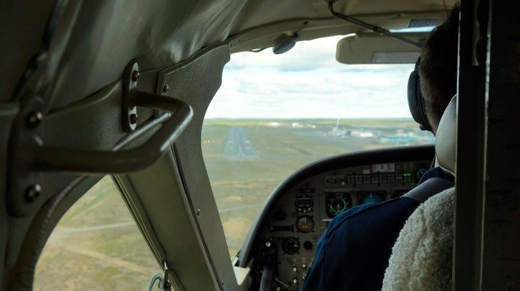 Landing at Yellowknife Airport
