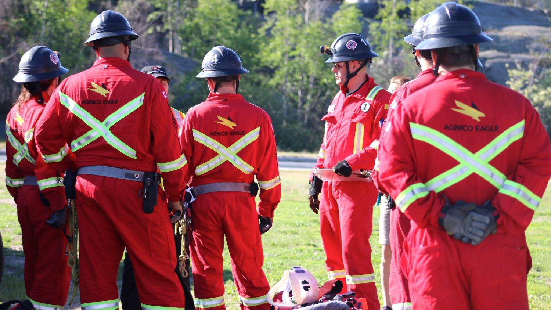 Mine rescue competition