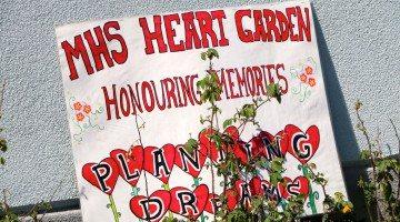 Heart Garden ceremony at Mildred Hall School