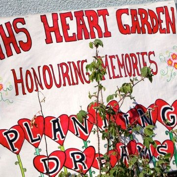 Heart Garden ceremony at Mildred Hall School