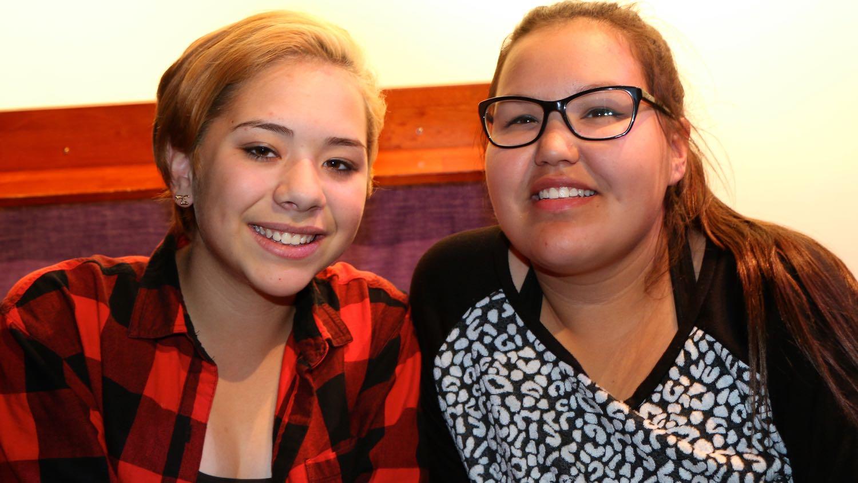 Makayla McKay and Kiana Horesay