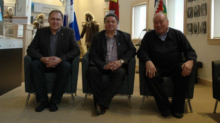 From left: Yukon Premier Darrell Pasloski, Nunavut Premier Peter Taptuna and NWT Premier Bob McLeod in 2015.