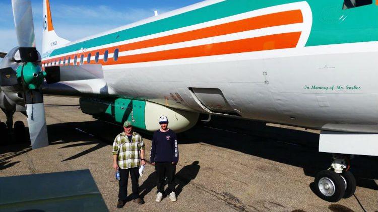 Buffalo Airways Electra tanker 416 C-FIJX