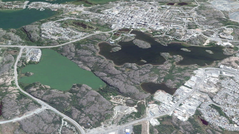 Aerial view of Jackfish Lake