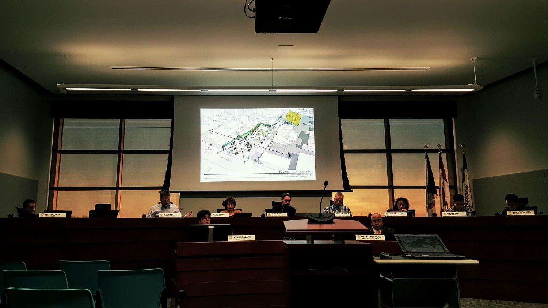 City councillors debate the 50-50 lot