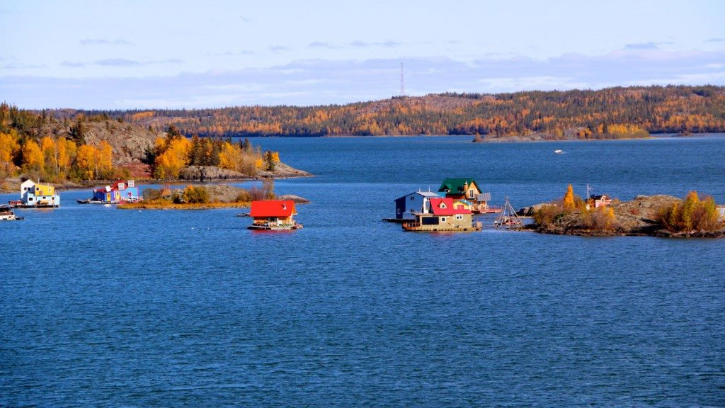 View from Yellowknife's water treatment facility