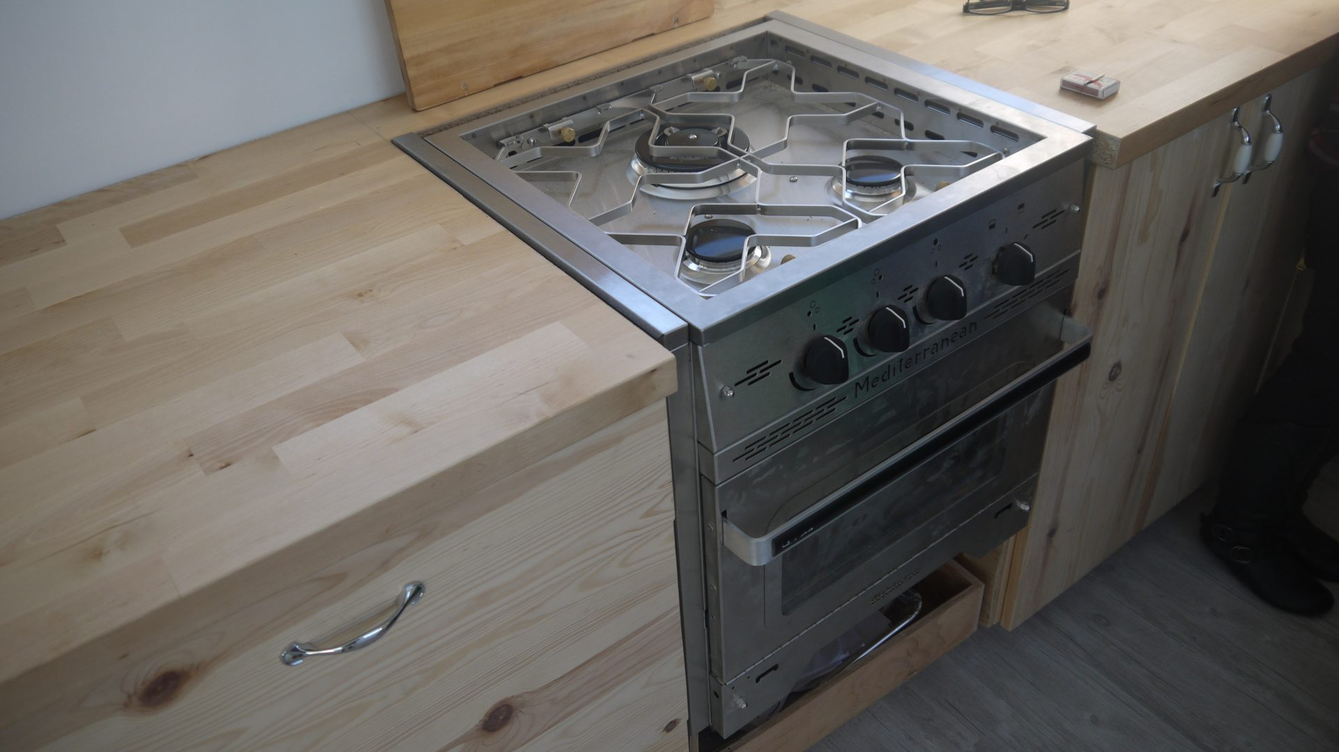 Croteau's propane stove top and oven.