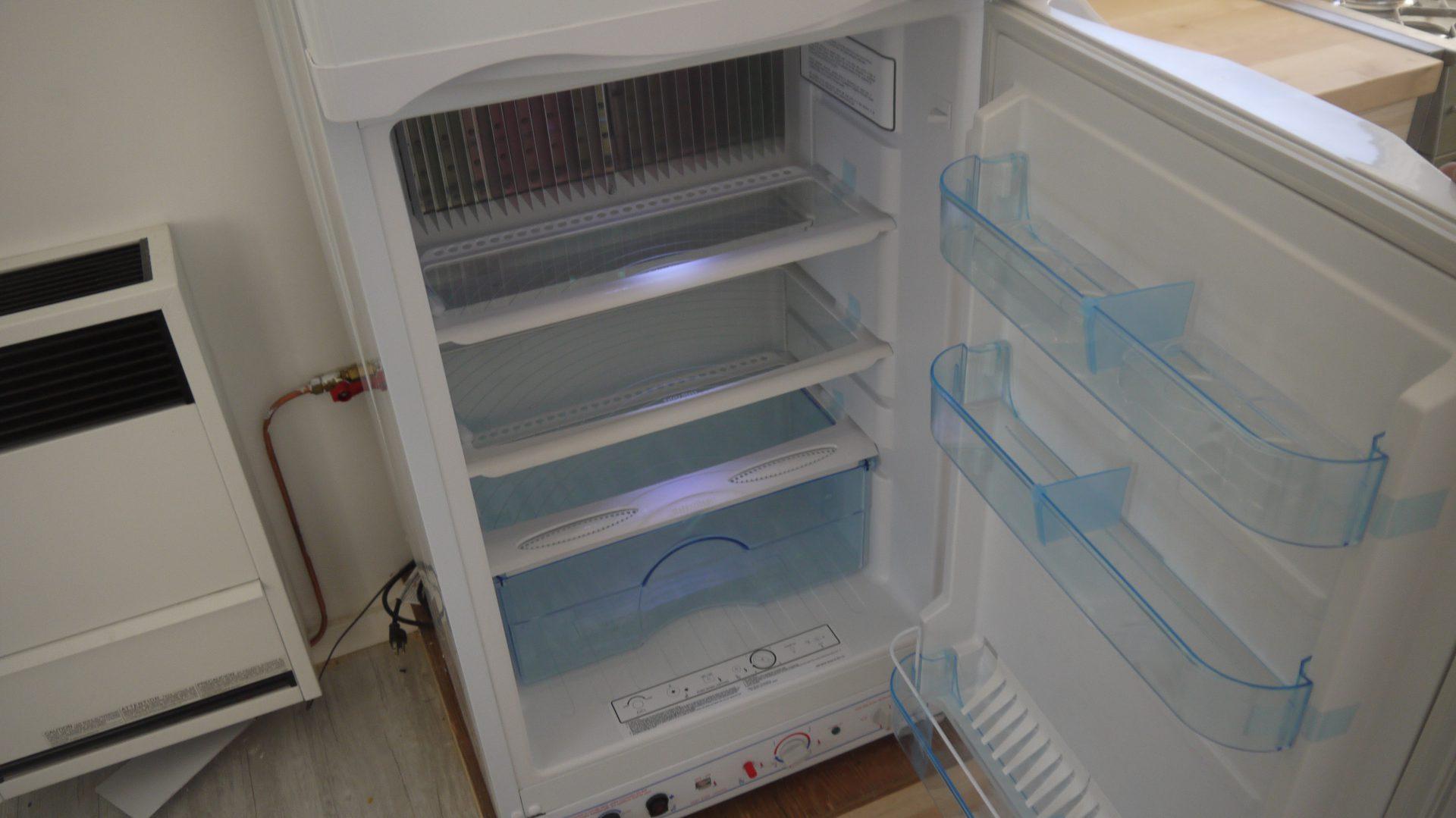 Croteau's propane fridge.