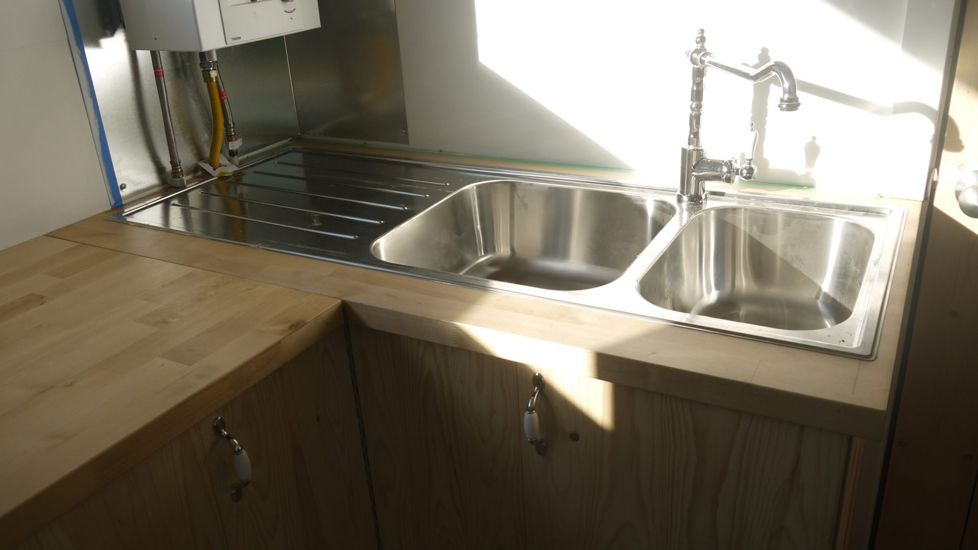 Croteau's kitchen sink and counter space.