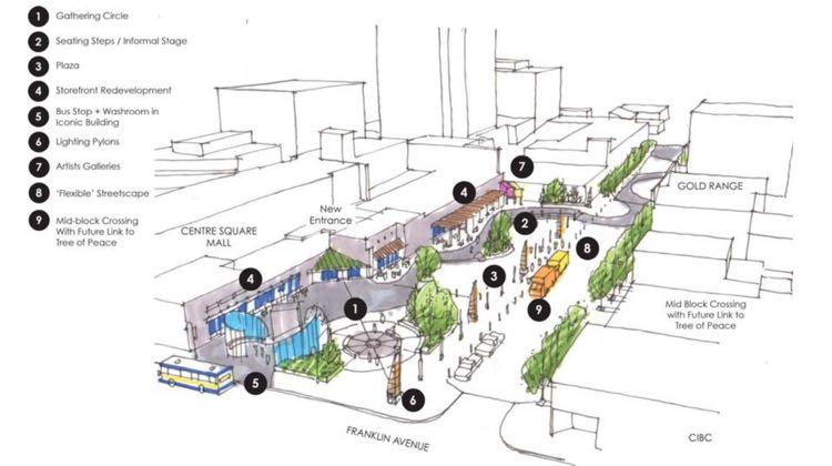 Artist's impression of Yellowknife 50-50 lot plan