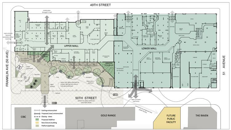 Schematic of Yellowknife 50-50 lot plan