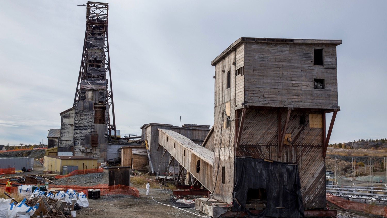Giant Mine's C-shaft headframe