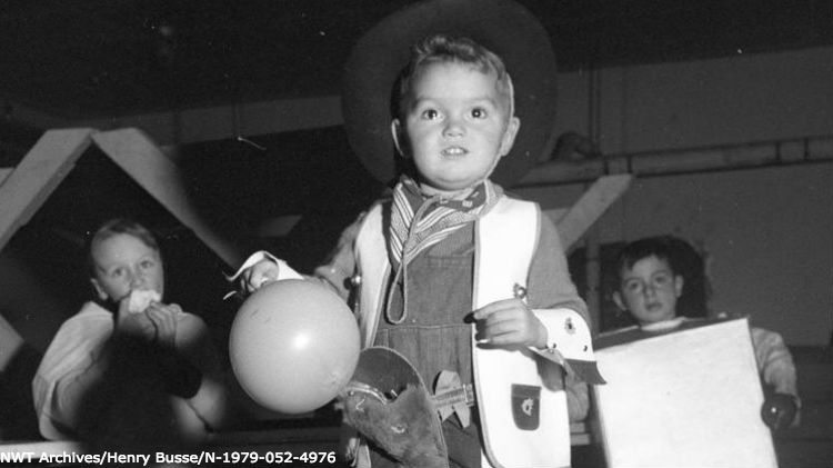 Boy in halloween costume, from Henry Busse's collection