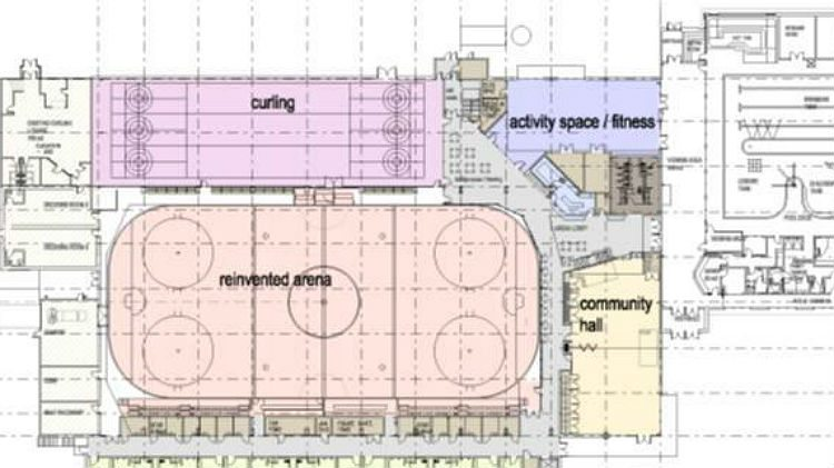 Mock-up of Hay River recreation centre