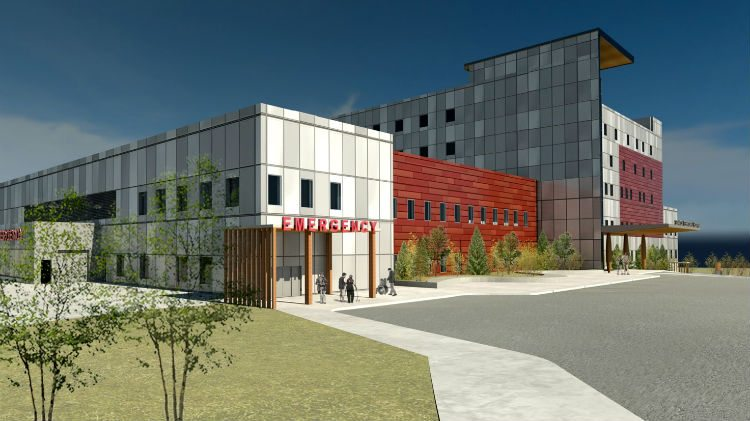 Rendering of design for new Yellowknife hospital