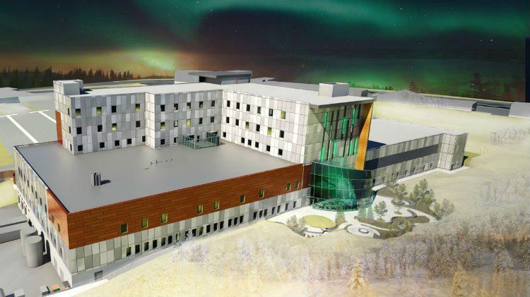 Rendering of design for new Yellowknife hospital