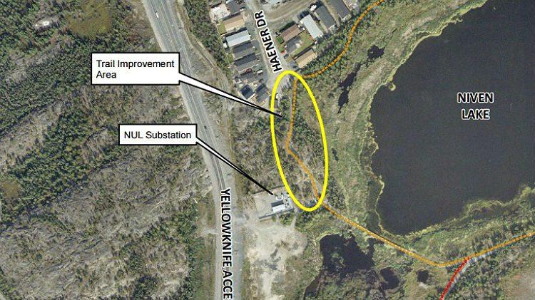 Map: Proposed Niven Lake trail improvements