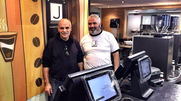Fadil Memedi, left, and Rami Kassem at Javaroma's new airport location