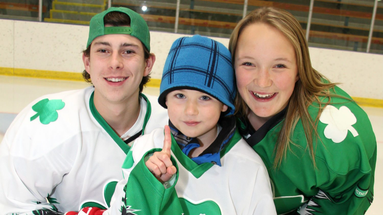 St Patrick High School hockey players