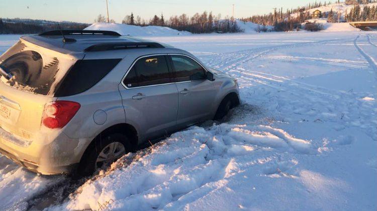 Stranded car