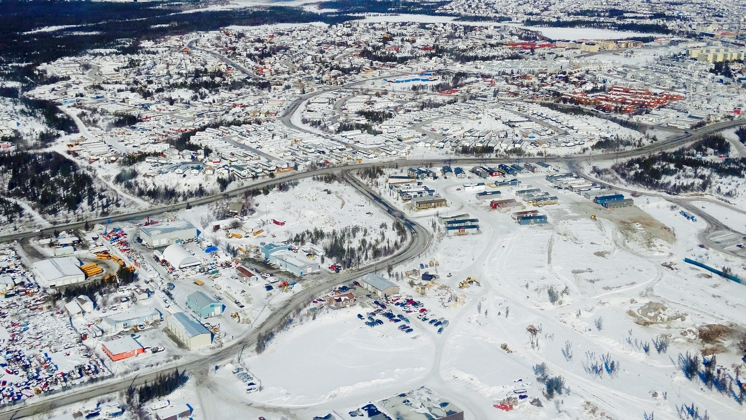 Yellowknife in the snow