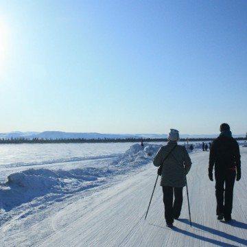Yellowknife winter walk