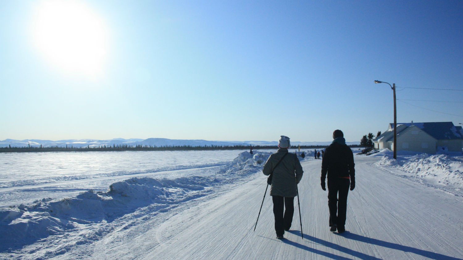 Yellowknife in winter: the best place for a walk?