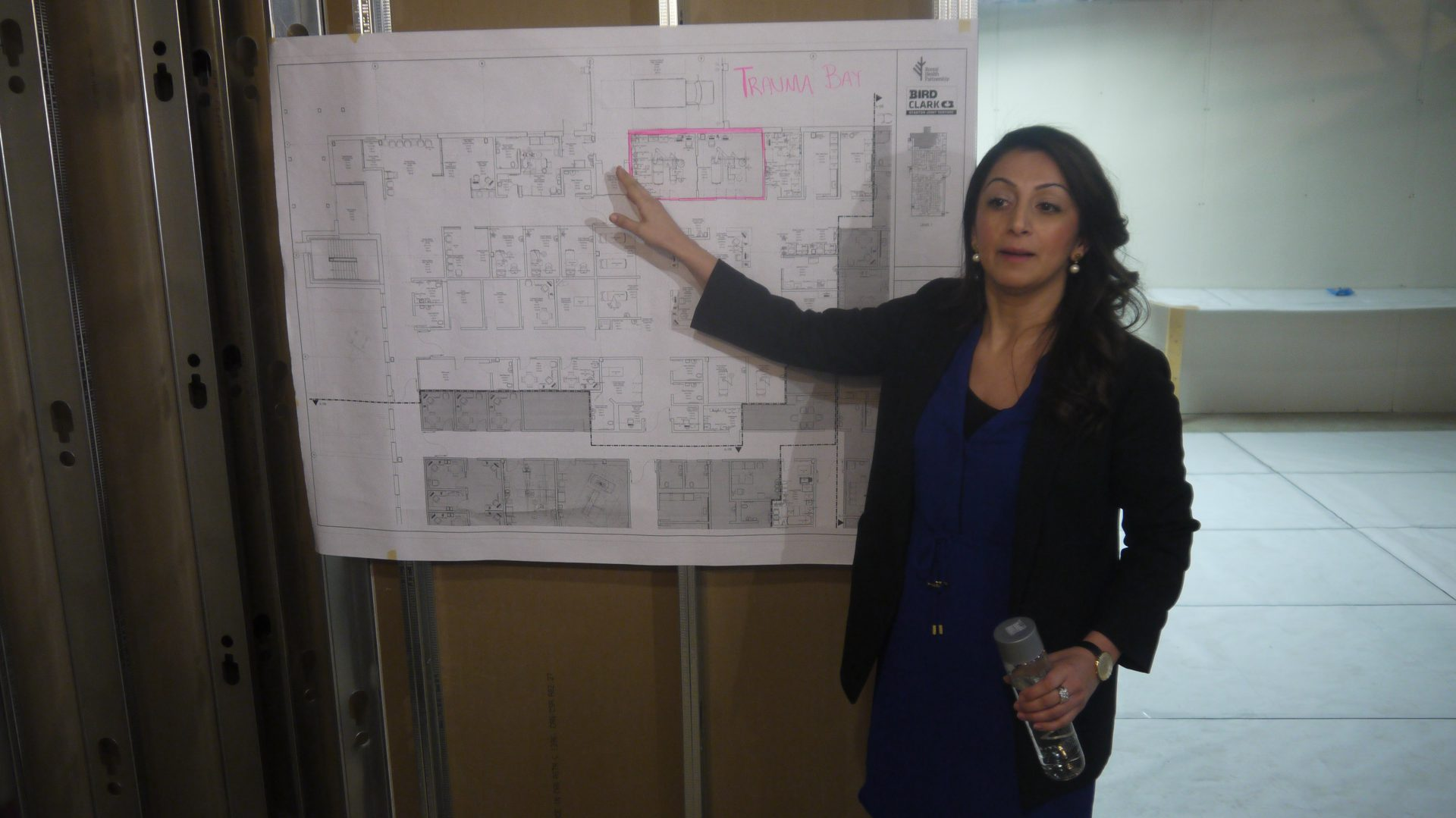 Jeannie Dhaliwal walked reporters through a series of mock-up designs Thursday.
