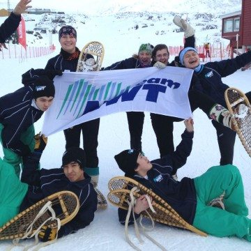 NWT snowshoe team