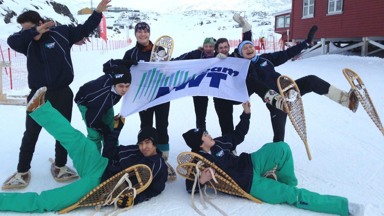 NWT snowshoe team