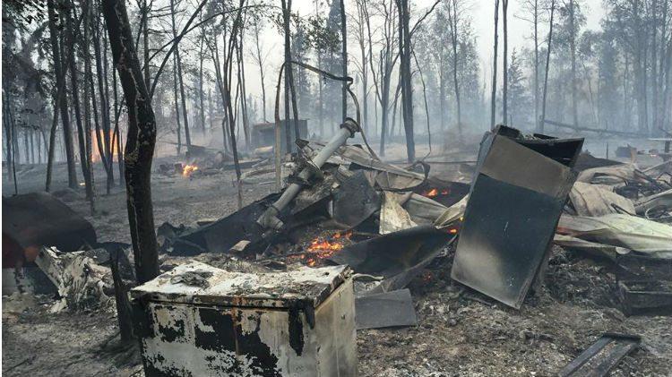 What was left of the Namushka Lodge (photo courtesy of Namushka Lodge)