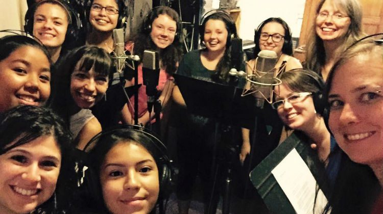 NWT youth record original songs with the help of a professional recording artist. Photo courtesy: FOXY on Facebook