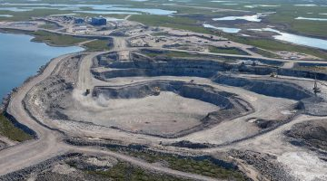 The Gahcho Kué diamond mine located 280 kilometers northeast of Yellowknife. Photo courtesy: De Beers Canada