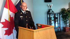 RCMP Insp. Matt Peggs says police are following up on numerous leads in the hunt for alleged killer Denecho King.
