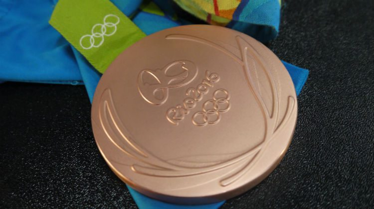 The medal, up close and personal.
