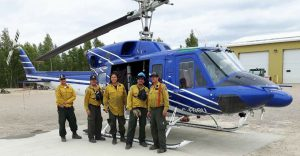 Godard, second from right, poses with other firefighters. Photo courtesy: Environment and Natural Resources - North Slave Region.