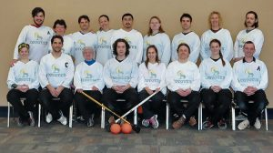 The NWT Coyotes during the 2016 mixed national championships.